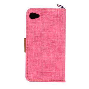 Cloth Peňaženkové puzdro pre mobil Sony Xperia Z5 Compact - ružové - 3