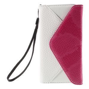 Štýlové Peňaženkové puzdro pre Sony Xperia Z5 Compact - rose - 3