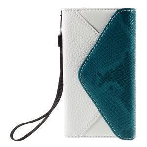 Štýlové Peňaženkové puzdro pre Sony Xperia Z5 Compact - modré - 3