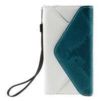 Štýlové Peňaženkové puzdro pre Sony Xperia Z5 Compact - modré - 3/7