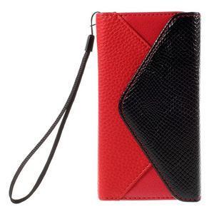 Stylové peněženkové pouzdro na Sony Xperia Z5 Compact - červené - 3