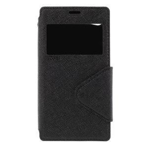 Puzdro s okienkom na Sony Xperia Z5 Compact - čierne - 3