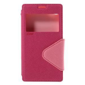 Puzdro s okýnkem na Sony Xperia Z5 Compact - rose - 3