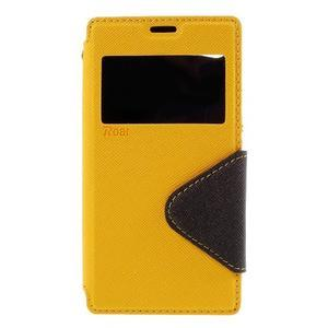 Puzdro s okienkom na Sony Xperia Z5 Compact - žlté - 3