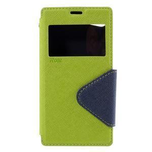 Puzdro s okienkom na Sony Xperia Z5 Compact - zelené - 3