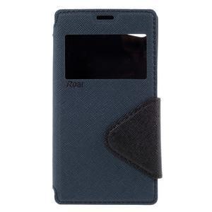 Puzdro s okýnkem na Sony Xperia Z5 Compact - tmavěmodré - 3