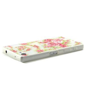 Transparentní gelový obal na Sony Xperia Z5 Compact - elegantní květiny - 3