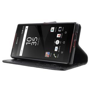 Butterfly Peňaženkové puzdro pre Sony Xperia Z5 Compact - čierne - 3
