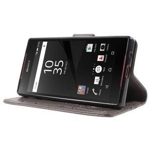 Butterfly Peňaženkové puzdro pre Sony Xperia Z5 Compact - sivé - 3