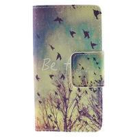 Diary peněženkové pouzdro na Sony Xperia Z5 Compact - ptáčci - 3/7