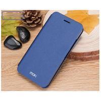 Klopové PU kožené pouzdro na Xiaomi Mi5 - modré - 3/4