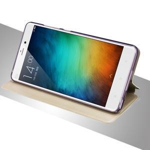 Vintage stylové PU kožené pouzdro na mobil Xiaomi Mi5 - zlaté - 3