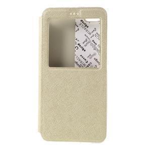 Cross peňaženkové puzdro s oknem na Xiaomi Mi5 - zlaté - 3