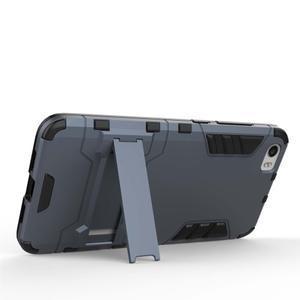 Hybridní odolný kryt pre mobil Xiaomi Mi5 - sivomodrý - 3