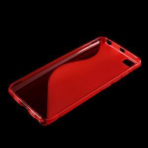 S-line gélový obal pre mobil Xiaomi Mi5 - červený - 3