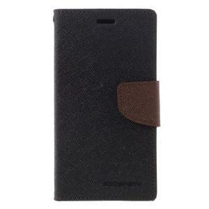 Diary PU kožené puzdro pre mobil Xiaomi Redmi 3 - čierne/hnedé - 3