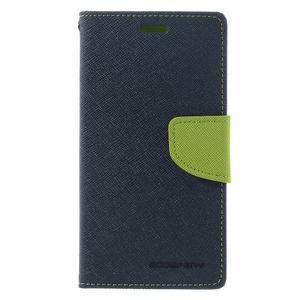 Diary PU kožené pouzdro na mobil Xiaomi Redmi 3 - tmavěmodré - 3