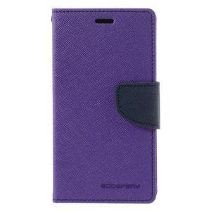 Diary PU kožené puzdro pre mobil Xiaomi Redmi 3 - fialové - 3