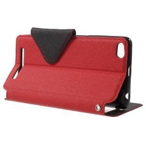 Diary view peňaženkové puzdro pre Xiaomi Redmi 3 - červené - 3
