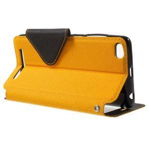 Diary view peněženkové pouzdro na Xiaomi Redmi 3 - žluté - 3