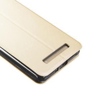 Vintage PU kožené pouzdro na Xiaomi Redmi 3 - zlaté - 3