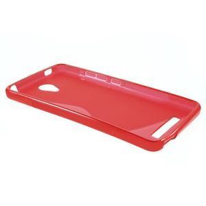 S-line gélový obal pre mobil Xiaomi Redmi Note 2 - červený - 3