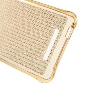 Diamonds gélový obal pre Xiaomi Redmi Note 2 - zlatý - 3