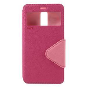 Diary pouzdro s okýnkem na mobil Xiaomi Redmi Note 3  - rose - 3