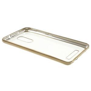 Gelový obal se zlatým lemem na Xiaomi Redmi Note 3 - 3