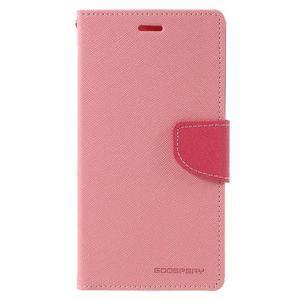 Wallet PU kožené pouzdra na Xiaomi Redmi Note 3 - růžové - 3