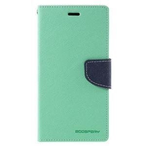 Wallet PU kožené puzdra na Xiaomi Redmi Note 3 - azurové - 3