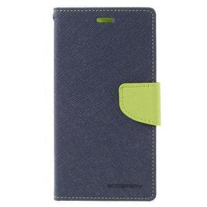 Wallet PU kožené puzdra na Xiaomi Redmi Note 3 - tmavomodré - 3