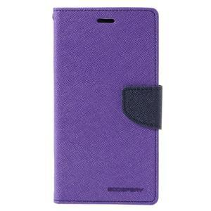 Wallet PU kožené pouzdra na Xiaomi Redmi Note 3 - fialové - 3