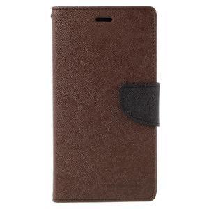 Wallet PU kožené pouzdra na Xiaomi Redmi Note 3 - hnědé - 3