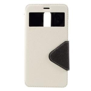 Diary pouzdro s okýnkem na mobil Xiaomi Redmi Note 3  - bílé - 3