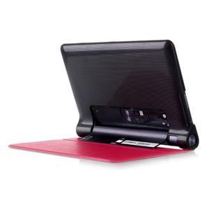 Polohovatelné PU kožené puzdro pre Lenovo Yoga Tab 3 8.0 - rose - 3