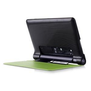 Polohovatelné PU kožené puzdro pre Lenovo Yoga Tab 3 8.0 - zelené - 3