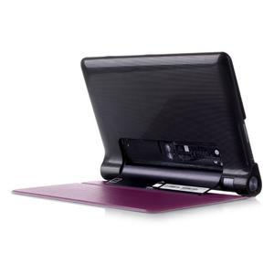 Polohovatelnotelné PU kožené pouzdro na Lenovo Yoga Tab 3 8.0 - fialové - 3