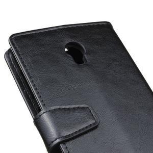 Leat PU kožené puzdro Lenovo Vibe P1 - čierné - 3