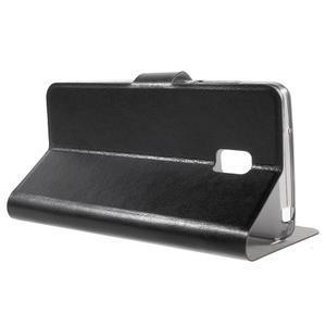 Horse peňaženkové puzdro pre Lenovo Vibe P1 - čierné - 3