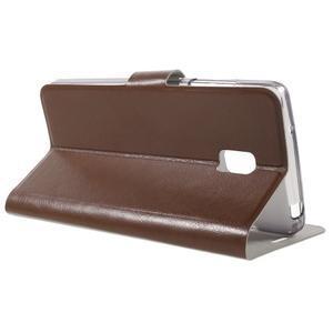 Horse peňaženkové puzdro pre Lenovo Vibe P1 - hnedé - 3