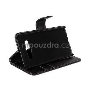 Kožené puzdro pre Samsung Galaxy A3    - čierné - 3