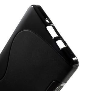 Gélové s-line puzdro na Samsung Galaxy A3 - čierné - 3