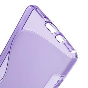 Gélové s-line puzdro na Samsung Galaxy A3 - fialová - 3