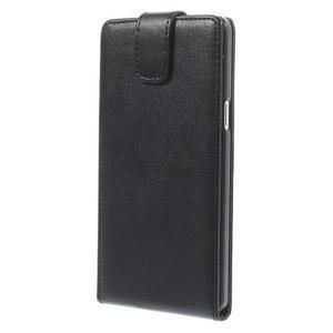 Kožené flipové puzdro pre Samsung Galaxy A5 - čierné - 3