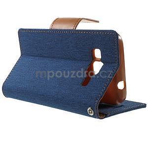 Štýlové textilné/PU kožené puzdro pre Samsung Galaxy Core Prime - jeans - 3