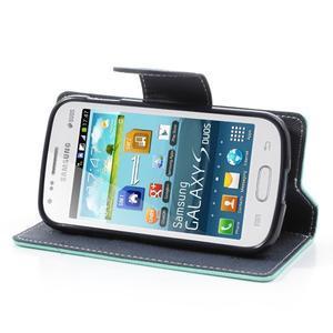 Diary puzdro na mobil Samsung Galaxy S Duos / Trend Plus - azurové - 3