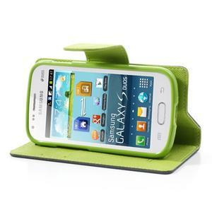 Diary puzdro na mobil Samsung Galaxy S Duos / Trend Plus - tmavomodré - 3