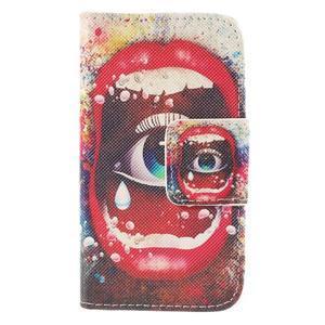 Peňaženkové puzdro pre Samsung Galaxy S Duos / Trend Plus - oko - 3