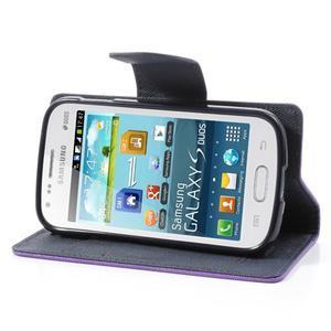 Diary puzdro na mobil Samsung Galaxy S Duos / Trend Plus - fialové - 3